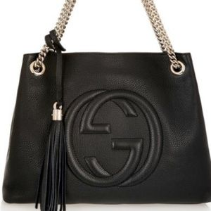 GUCCI Soho medium textured leather shoulder bag
